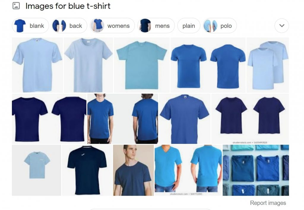 blue shirt google snippet
