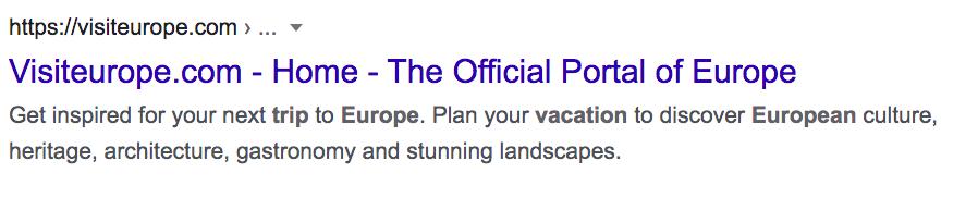 Europe Trip Google Result