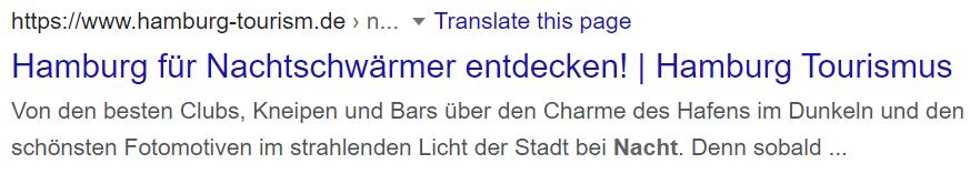 Hamburg Google Ergebnis