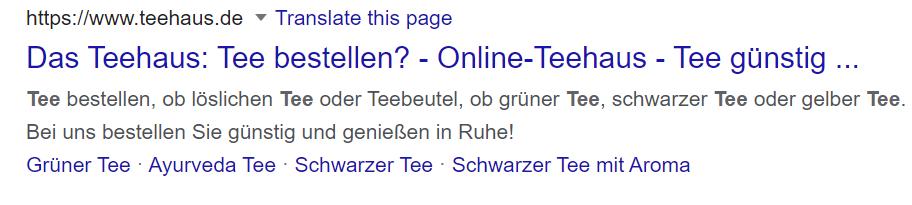 Teehaus Google Ergebnis